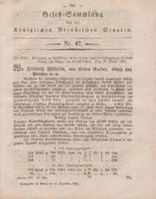 Gesetz-Sammlung für die Königlichen Preussischen Staaten, 8. Dezember, 1854, nr. 47.