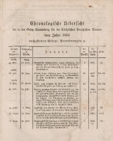Gesetz-Sammlung für die Königlichen Preussischen Staaten (Chronologische Uebersicht), 1854
