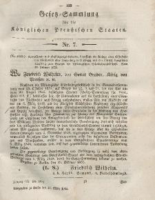 Gesetz-Sammlung für die Königlichen Preussischen Staaten, 13. März, 1855, nr. 7.