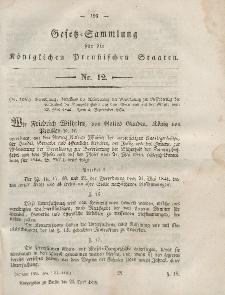 Gesetz-Sammlung für die Königlichen Preussischen Staaten, 24. April, 1855, nr. 12.