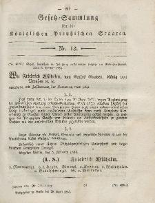 Gesetz-Sammlung für die Königlichen Preussischen Staaten, 28. April, 1855, nr. 13.