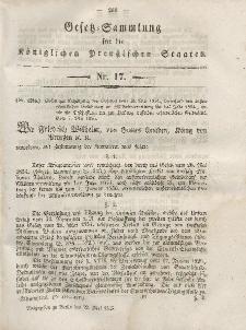 Gesetz-Sammlung für die Königlichen Preussischen Staaten, 22. Mai, 1855, nr. 17.
