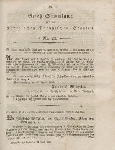 Gesetz-Sammlung für die Königlichen Preussischen Staaten, 22. Juni, 1855, nr. 24.