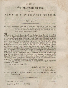 Gesetz-Sammlung für die Königlichen Preussischen Staaten, 5. Juli, 1855, nr. 27.