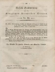 Gesetz-Sammlung für die Königlichen Preussischen Staaten, 18. August, 1855, nr. 32.