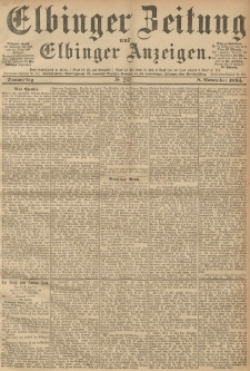 Elbinger Zeitung und Elbinger Anzeigen, Nr. 263 Donnerstag 08. October 1894