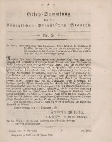 Gesetz-Sammlung für die Königlichen Preussischen Staaten, 22. Januar, 1856, nr. 2.