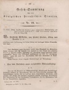 Gesetz-Sammlung für die Königlichen Preussischen Staaten, 22. März, 1856, nr. 10.
