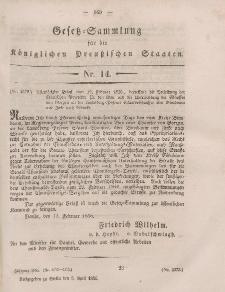 Gesetz-Sammlung für die Königlichen Preussischen Staaten, 5. April, 1856, nr. 14.