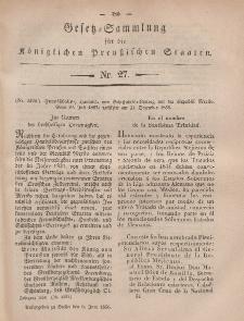 Gesetz-Sammlung für die Königlichen Preussischen Staaten, 6. Juni, 1856, nr. 27.