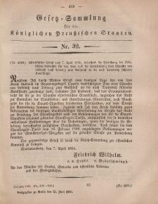 Gesetz-Sammlung für die Königlichen Preussischen Staaten, 23. Juni, 1856, nr. 32.