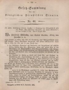Gesetz-Sammlung für die Königlichen Preussischen Staaten, 8. September, 1856, nr. 46.