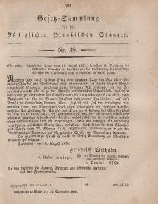Gesetz-Sammlung für die Königlichen Preussischen Staaten, 18. September, 1856, nr. 48.
