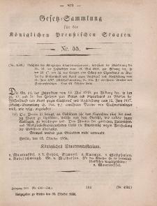 Gesetz-Sammlung für die Königlichen Preussischen Staaten, 30. Oktober, 1856, nr. 55.