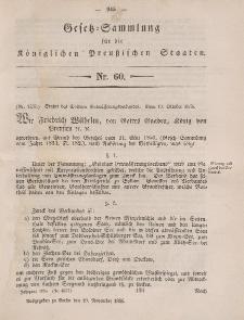 Gesetz-Sammlung für die Königlichen Preussischen Staaten, 19. November, 1856, nr. 60.