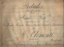 Preludes dans differents tons pour le Piano-Forte. No 1814.