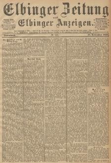 Elbinger Zeitung und Elbinger Anzeigen, Nr. 272 Sonntag 18. October 1894