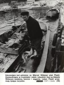 Połów ryb w Piaskach na Mierzei Wiślanej