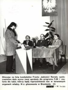 Front Jedności Narodu – głosowanie w Braniewie