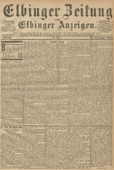 Elbinger Zeitung und Elbinger Anzeigen, Nr. 275 Freitag 23. October 1894