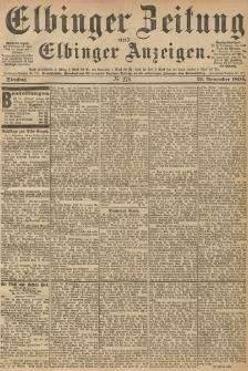 Elbinger Zeitung und Elbinger Anzeigen, Nr. 278 Dienstag 27. October 1894