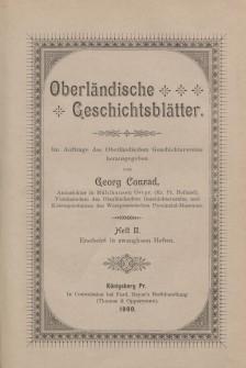 Oberländische Geschichtsblätter, Heft 2, 1900