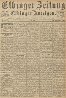 Elbinger Zeitung und Elbinger Anzeigen, Nr. 280 Donnerstag 29. October 1894