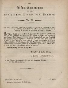 Gesetz-Sammlung für die Königlichen Preussischen Staaten, 28. April, 1857, nr. 22.