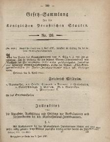 Gesetz-Sammlung für die Königlichen Preussischen Staaten, 3. Juni, 1857, nr. 26.