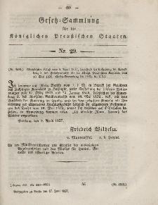 Gesetz-Sammlung für die Königlichen Preussischen Staaten, 17. Juni, 1857, nr. 29.
