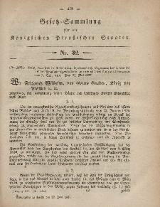 Gesetz-Sammlung für die Königlichen Preussischen Staaten, 22. Juni, 1857, nr. 32.