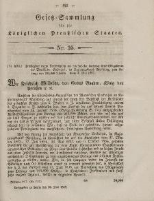Gesetz-Sammlung für die Königlichen Preussischen Staaten, 30. Juni, 1857, nr. 35.