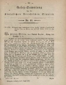 Gesetz-Sammlung für die Königlichen Preussischen Staaten, 5. August, 1857, nr. 41.