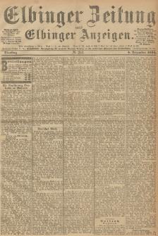Elbinger Zeitung und Elbinger Anzeigen, Nr. 284 Dienstag 04. December 1894