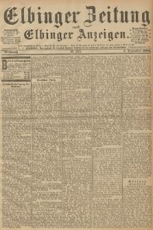 Elbinger Zeitung und Elbinger Anzeigen, Nr. 285 Mittwoch 05. December 1894