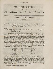 Gesetz-Sammlung für die Königlichen Preussischen Staaten, 26. November, 1857, nr. 60.
