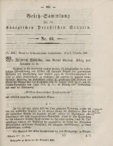 Gesetz-Sammlung für die Königlichen Preussischen Staaten, 30. November, 1857, nr. 61.