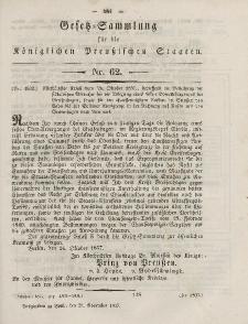 Gesetz-Sammlung für die Königlichen Preussischen Staaten, 28. November, 1857, nr. 62.