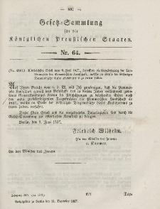Gesetz-Sammlung für die Königlichen Preussischen Staaten, 21. Dezember, 1857, nr. 64.