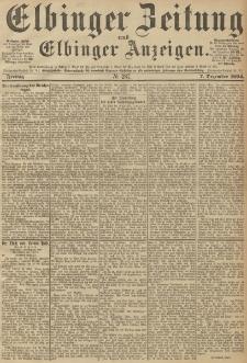 Elbinger Zeitung und Elbinger Anzeigen, Nr. 287 Freitag 07. December 1894
