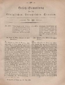 Gesetz-Sammlung für die Königlichen Preussischen Staaten, 22. Mai, 1858, nr. 22.