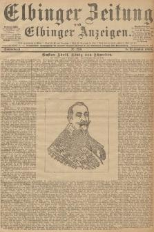 Elbinger Zeitung und Elbinger Anzeigen, Nr. 288 Sonnabend 08. December 1894