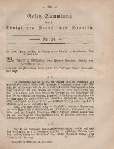 Gesetz-Sammlung für die Königlichen Preussischen Staaten, 11. Juni, 1858, nr. 24.