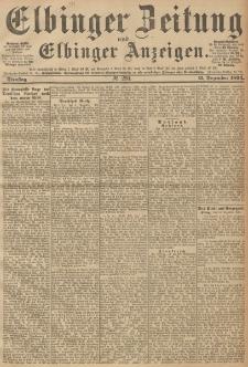 Elbinger Zeitung und Elbinger Anzeigen, Nr. 290 Dienstag 11. December 1894
