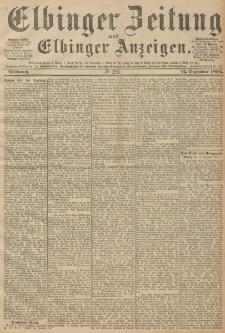 Elbinger Zeitung und Elbinger Anzeigen, Nr. 291 Mittwoch 12. December 1894