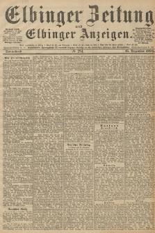 Elbinger Zeitung und Elbinger Anzeigen, Nr. 294 Sonnabend 15. December 1894
