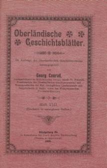 Oberländische Geschichtsblätter, Heft 8, 1906