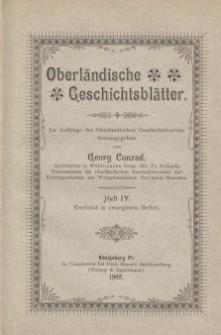 Oberländische Geschichtsblätter, Heft 4, 1902