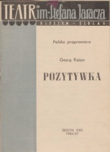 Pozytywka - Georg Kaiser