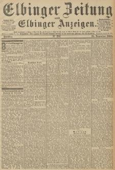Elbinger Zeitung und Elbinger Anzeigen, Nr. 296 Dienstag 18. December 1894